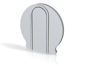 Air_Freshener Wall Hanger in White Natural Versatile Plastic