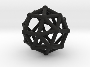 Snub cube (chiral) in Black Strong & Flexible