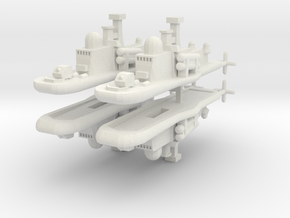 9 Ether Corvette x4 in White Natural Versatile Plastic