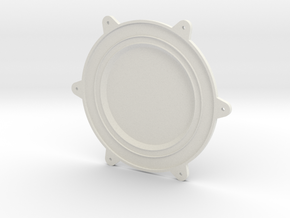 Cleanroom Inlet Fan Endcap 1 of 2 in White Natural Versatile Plastic