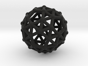 Snub dodecahedron (chiral) in Black Strong & Flexible