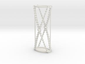 Gimp Flicka in White Natural Versatile Plastic