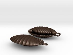 Earshells in Matte Bronze Steel