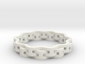 Interlaced Ring in White Strong & Flexible