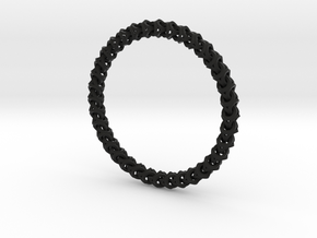 Bracelet - Crossover in Black Strong & Flexible