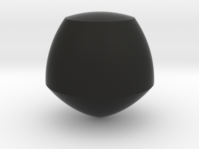 Reuleaux Pentagon Spheroform in Black Strong & Flexible
