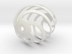 Easter Egg Spiral 1 in White Natural Versatile Plastic