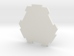 board game hexagon in White Natural Versatile Plastic