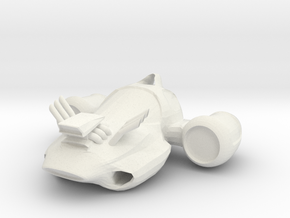 Jet-Car 3 in White Natural Versatile Plastic