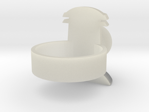 Revised design-Alan Scott GL ring in Transparent Acrylic