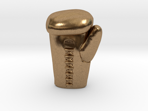 boxing glove in Natural Brass
