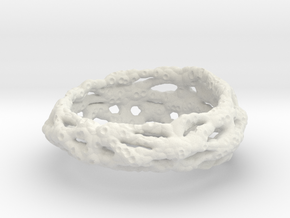 Cellulesque Ring in White Natural Versatile Plastic