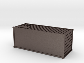 Container (N scale) in Polished Bronzed Silver Steel