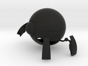 Robot Golf Ball in Black Natural Versatile Plastic