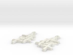 """ear rings """"Denise"""" in White Natural Versatile Plastic"""
