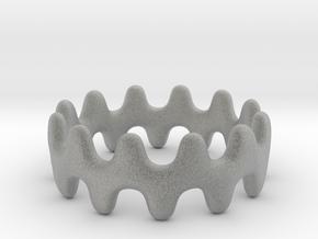 Artistic Wave Ring in Metallic Plastic