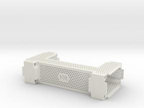 Icetube Clock Enclosure - Main Body in White Natural Versatile Plastic