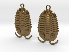 Trilobites Earrings in Natural Bronze