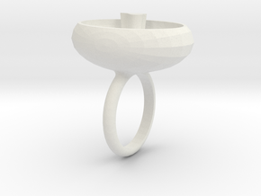 saskia ring wit in White Natural Versatile Plastic