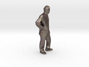 "hands on hips 1/8"" scale in Polished Bronzed Silver Steel"