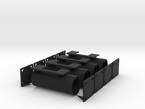 TankTainer2 - Set of 4 - Zscale in Black Natural Versatile Plastic