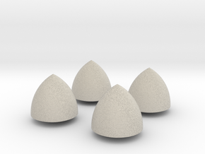 Solid of Constant Width - Set of 4 in Natural Sandstone