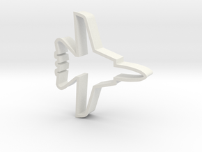 F14 Cookie Cutter in White Natural Versatile Plastic