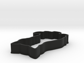 Cat Cookie Cutter in Black Strong & Flexible