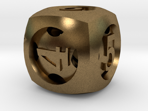 Overstuffed d6 in Natural Bronze