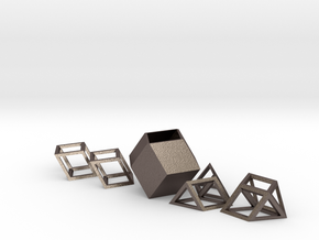 Albis Box in Polished Bronzed Silver Steel