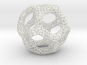 Voroni Runner in White Natural Versatile Plastic