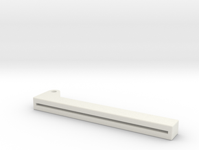 Clapper Lower in White Natural Versatile Plastic