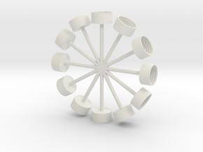 Pop Clocks in White Strong & Flexible