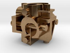 Ligature Die6 in Raw Brass