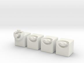 Minimis 2x2x1 (solid) in White Natural Versatile Plastic