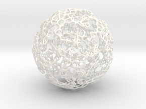 Linked Voroni in White Strong & Flexible Polished