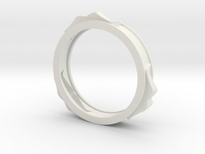 mustache bracelet hollow in White Natural Versatile Plastic