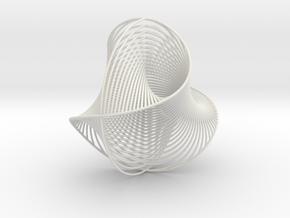 WaveBall in White Natural Versatile Plastic