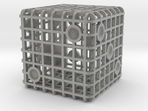 Steel Cage Die #1 in Metallic Plastic