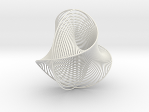 Waveball2 in White Natural Versatile Plastic