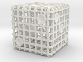 Steel Cage Die #1 in White Natural Versatile Plastic