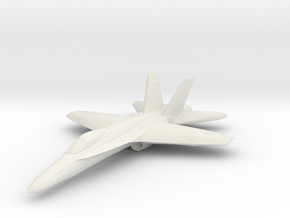 F18e Jet Aircraft  - Monopoly Metal Model in White Strong & Flexible