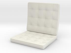 Seat_12cmB in White Natural Versatile Plastic