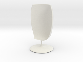 Glass_12cmB in White Natural Versatile Plastic