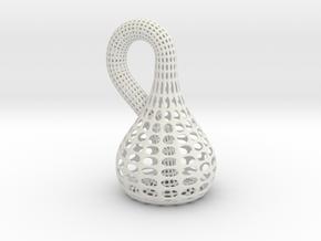 Klein Bottle in White Natural Versatile Plastic