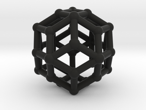 Rhombic triacontahedron in Black Strong & Flexible