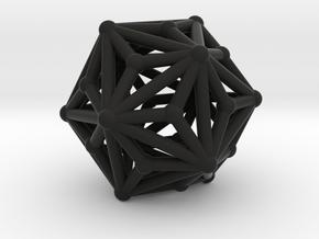 Triakisicosahedron in Black Strong & Flexible