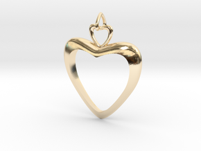 Loving Heart in 14K Yellow Gold