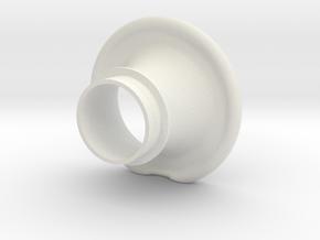 Cornet_rounded in White Natural Versatile Plastic