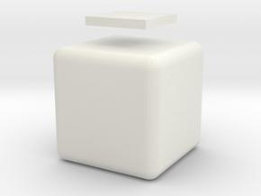 Mini 1x1x1 in White Natural Versatile Plastic